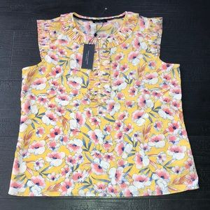 Tommy Hilfiger Blouse Sleeveless Large Floral NWT